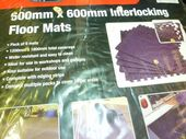 600mm square interlocking floor mats